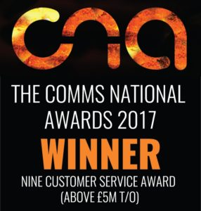 NSN Wins Best Customer Services Award 2017 (+ £5M T/O)