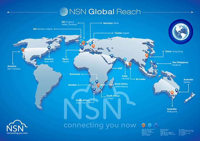NSN Global Reach – Connecting you now across the Globe